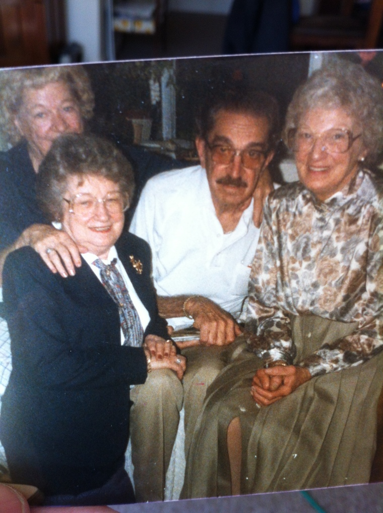 Aunt Jeanne, my Dad, Aunt Hazel and Aunt Louise.