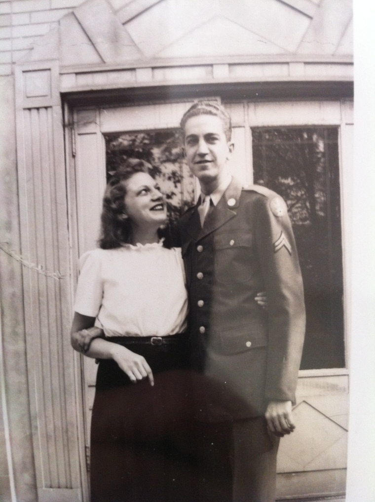 Jeanne and my Dad, when he came home from WWII.  Right before he met my Mother.